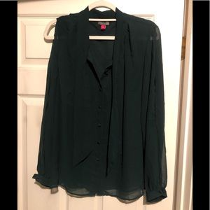 Vince Camuto Hunter Green Blouse